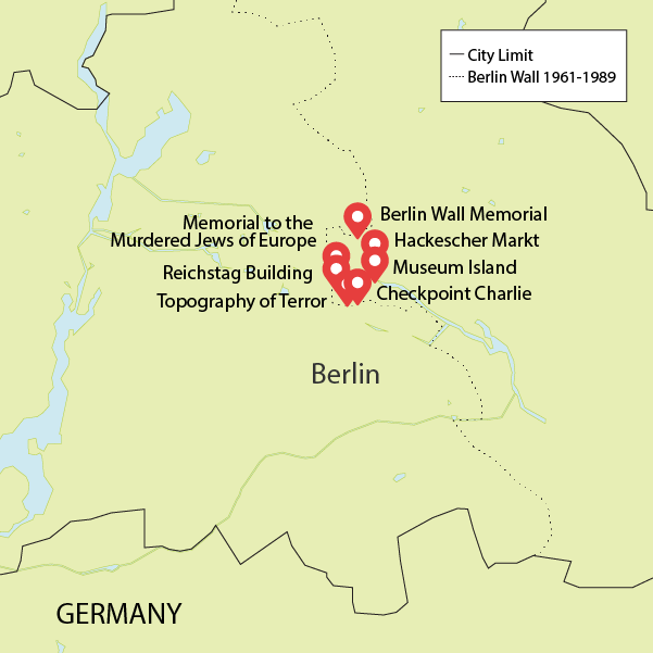 Berlin tour map