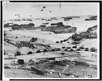 historic photo of D-Day