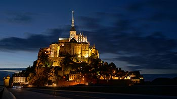 Mont St. Michel at might
