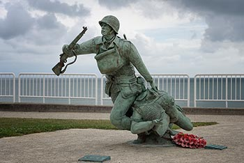 statue on Omaha Beach