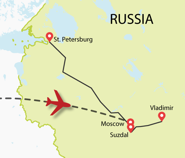 Russia tour map