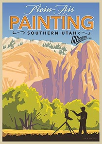 Zion painting poster