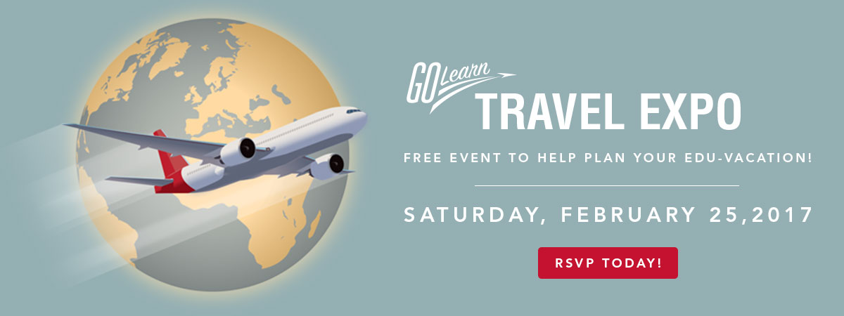Visit Go Learn at our travel expo