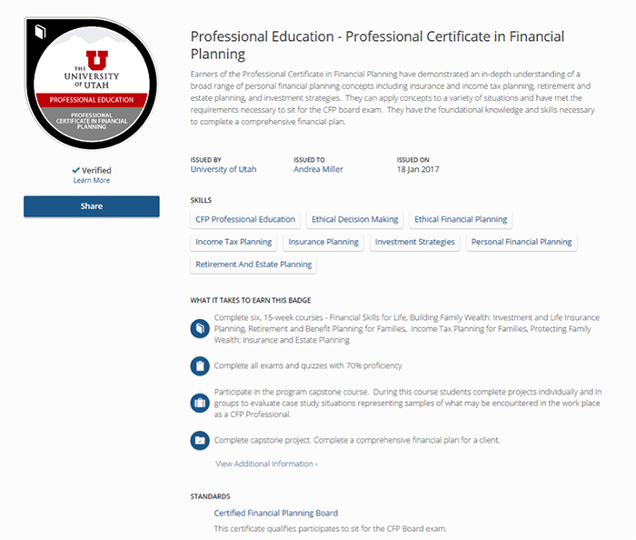 professional education  badges