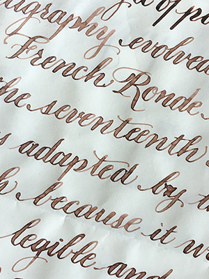 Pointed Pen Calligraphy Lifelong Learning Continuing